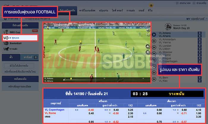 Virtual Football (ฟุตบอลเสมือนจริง)