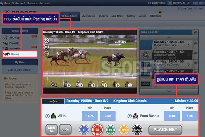 Virtual Racing (แข่งม้าเสมือนจริง)