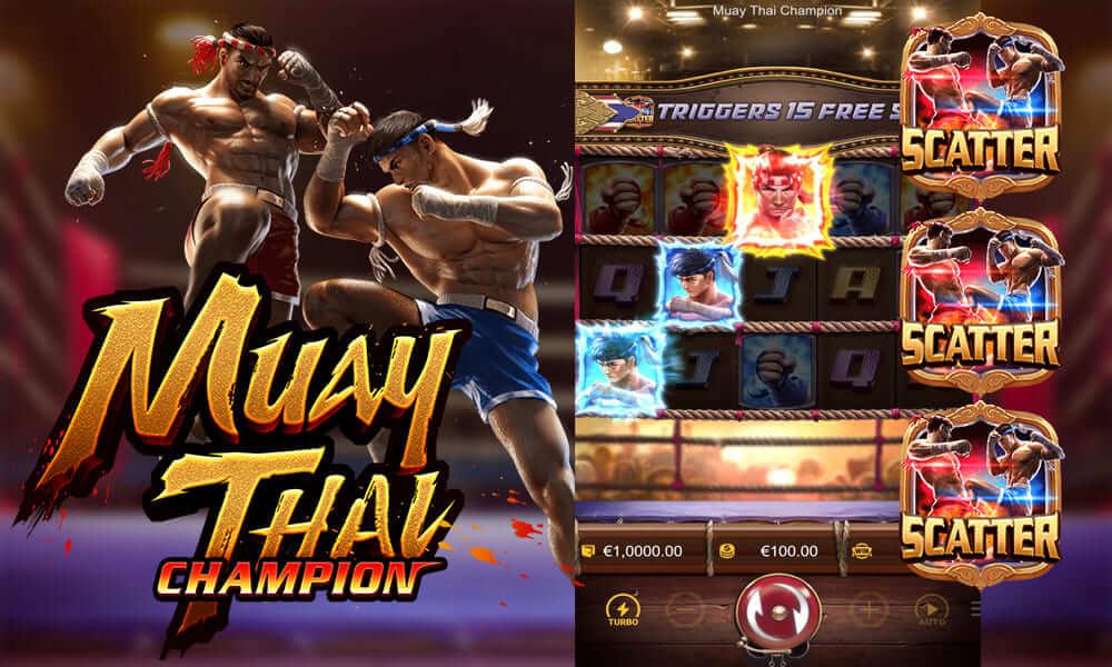 รีวิวสล็อตมวยไทย Muaythai Champion ให้รางวัลโบนัสก้อนโต มากับธีมนักสู้